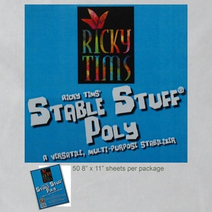 Ricky Tims Exquisite H6208511 50 Sheets Stable Stuff Embroidery Stabilizer 8-1/2x11""