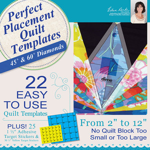 DIME, PPQ0030, Perfect, Placement, Quilt, Templates, 45°, and, 60°, Diamonds