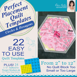 DIME PPQ0020 Perfect Placement Quilt Templates: Circle/Hexagon