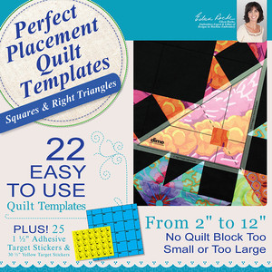 DIME PPQ0010 Perfect Placement Quilt Templates: Squares and Right Triangles