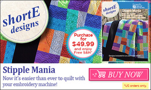 66865: DIME Stipple Mania 159 Quilting Designs CD to Piece, Sandwich & Embroider