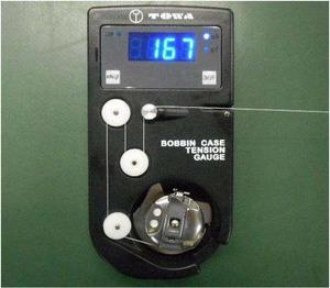 Towa DTM-A1 DTM-D Digital Thread Tension Gauge Complete for L & M Metal Bobbin Cases, 0-500g Pull (TM501 L Bracket Installed+TM502 M Bracket Included)