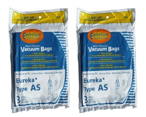Eureka 68155-6 Style AS Premium Bag for use with Eureka AS1050 Series (6 pack)