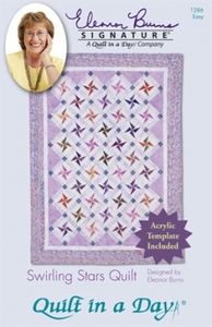 Quilt in a Day by Eleanor Burns Swirling Stars Sewing Pattern