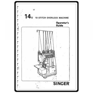 Singer Quantumlock 14u285 Instructional Video & Workbook Pages Combo