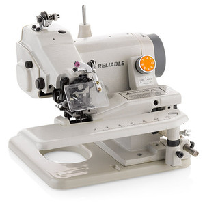 Reliable Maestro 600SB Blindstitch Hemmer Machine, Knee Lever, Cylinder Arm, Swing Plate, Curve Needle, Eye Guard, 2:1 Skip Stitch, 24Lb(700SB/MSK-588