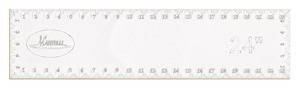 "Martelli SR-24-06 No Slip Ruler L24"" x W6"" for Rotary Cutters"