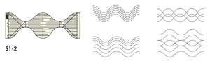 78908: Sew Steady Westalee Serpentine Templates for Free Motion Quilting
