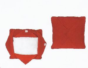 Embroidery Buddy EB12222-RED CC122222R 13″ Blank Pillow, Insert Form, Red, Easy As 1-2-3