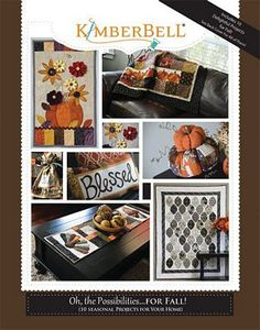 Kimberbell KD704 Oh, the Possibilities for Fall 10 Seasonal Projects Pattern Book