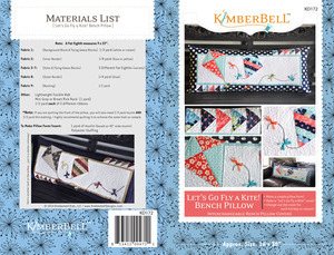 KimberBell Designs KD172 Lets Go Fly a Kite Pillow Sewing Project Pattern 16x38""