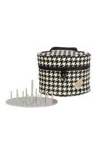 Bluefig Thread Carrier Combo, Thread Tray Storage, Carrying Case Mini, Holds up to 48 Spools