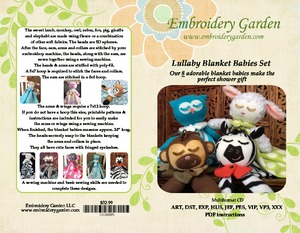 Embroidery Garden 10000005 In the Hoop Full Lullaby Blanket Babies Embroidery Designs on CD