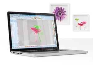 Bernina, Designer, Plus, 8, Software, Bernina Designer Plus V8 Embroidery Digitizing Software V8.1, Color Photostitch, 3D Globe Effect, Couching, Integrated Design Library, Multi Hooping