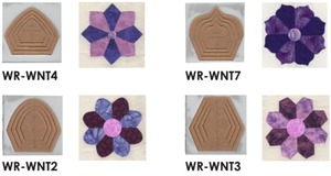 "Sew Steady Westalee Dresden Toppers Templates for  6"", 8"", 10"" and 12"" Plates"