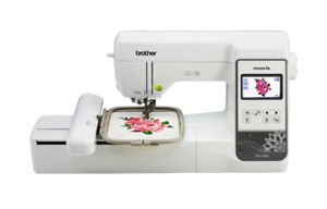Brother NS1150E 5x7 Embroidery Machine USB, Threader & Trimmer, 138Designs, 140Frames, 11Fonts, Color Screen Edit Designs and Lettering, BES2 Software