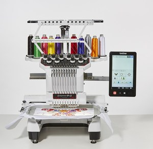 79623: Brother Demo Entrepreneur ProX PR1050X 10 Needle 8x14 Embroidery Machine