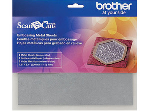 Brother CAEBSSMS1 Embossing Silver Metal Sheets for ScanNCut