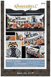 Kimberbell KD526 Embroidery CD: Welcome Autumn Bench Pillow