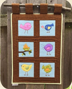 Birdie Applique Set