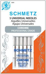 Schmetz, S-4009, Chrome, Universal, 5, pack, 130, 705, H, Size, 80, 12, strong, durable
