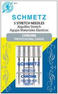 Schmetz, S-4013, Chrome, Professional, Grade, Stretch, 5, pack, 130, 705, H, S, Size, 90, 14, strong, durable