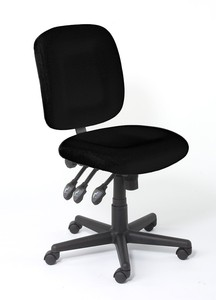 Black Bernina Sewing Chairl Bernina BCB12090.00 Black Chair BLACK W LOGO, 5 Spoke Rollers, 3 Adjustments, by Horn*