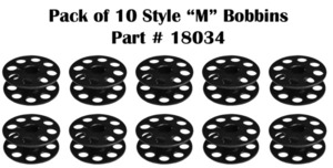 Techsew 18034 Large M Bobbins Pack of 10 for Techsew 2750