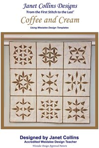 Westalee Coffee And Cream Pattern Using Templates By Janet Collins