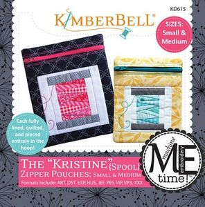 Kimberbell KD615 The Kristine - Sm & Med Zipper Pouches Embroidery Design
