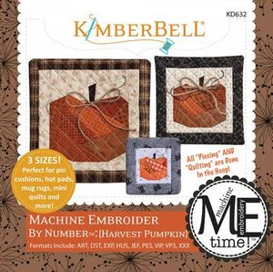 Kimberbell KD632 Harvest Pumpkin - Machine Embroider by Number Embroidery Design
