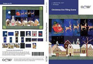 "80387: OESD Christmas Wintery Eve 21¼"" x 36¾"" Tiling Scene CD"