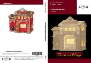 OESD 12647CD Christmas Village Firehouse Embroidery Designs CD