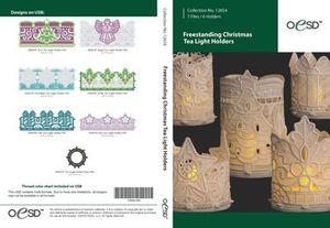80390: OESD 12654CD Freestanding Christmas Tea Light Holders CD