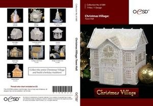 OESD Christmas Village Freestanding Lace Town Hall CD