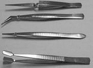 BT-012 Tweezer 4-pc Stainless Set