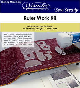80712: Westalee RULERWORKKIT Sampler 8 Templates Work Starter Set +Janet 45 Page Book of Designs