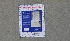"""The Decorating Diva NOT47 Mega Magic Wool Pressing Mat 14x24 Inches, 100% Wooly Ironing Pad 1/2"""" Thick by Pam Damour The Decorating Diva, Made in USA"""