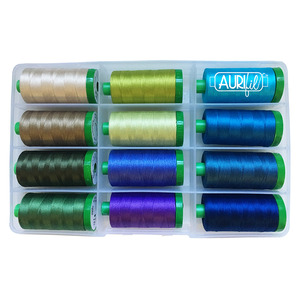 Aurifil BP40SS12 Surf and Sand Thread Collection by Fourth & Sixth Designs 12 Colors 40wt Cotton