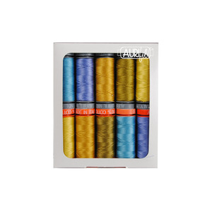 Aurifil AG5028SSCP10 Seventy Six - Cool Thread Collection by Alison Glass, 10 SMALL SPOOLS COTTON 50WT & 28WT