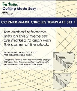 Sew Steady WT-CMC-1 Westalee Corner Mark Circles Template Set 1 - 2 Piece Set