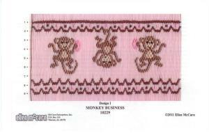 Ellen McCarn EM10229 Monkey Business Smocking Plate
