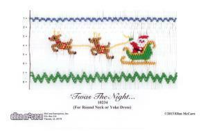 Ellen McCarn EM10235 'Twas The Night Smocking Plate Sewing Pattern with Colors
