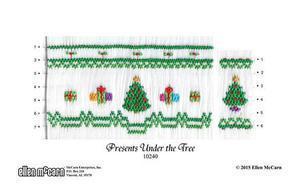 Ellen McCarn EM10240 Presents Under the Tree Smocking Plate