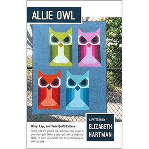 Elizabeth Hartman EH020 Allie Owl EH020 Baby, Lap, Twin Quilting Sewing Pattern