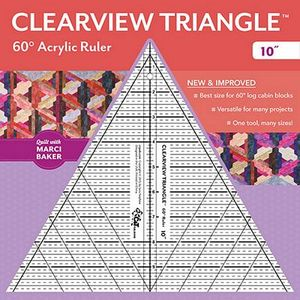 "81553: Clearview Triangle CT20329 10"" Ruler 60 Degree by Marci Baker"