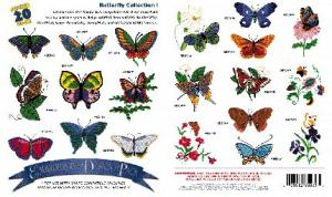 Great Notions 1014 Butterflies I Embroidery Mulit-Formatted CD