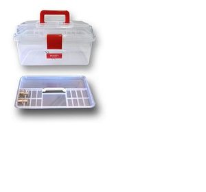 81686: Bohin BH98XXX Clear Plastic Sewing Tackle Box, 3 Sizes to Choose From