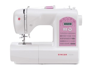 Singer 6699 Starlet 100 Stitch Computer Sewing Machine, Auto Needle Threader, Auto Tension, 6 Buttonholes, Extension Table, Hard Cover, 8 Feet