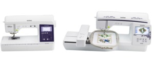"""Brother NQ575PRW 100Stitch Sewing Quilting +NQ1600E Embroidery Machines, 12Mo 0% Financing, 10 Extras, 1000 Designs, Brother NQ550PRW, babylock lyric, katherine BL210A,  Project Runway 180 Stitch Sewing Quilting Machine 8.3"""" Arm"""